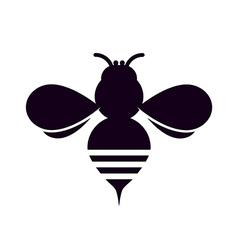 Bee silhouette vector