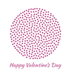 Circle pink Hearts Valentines Day card Background vector image