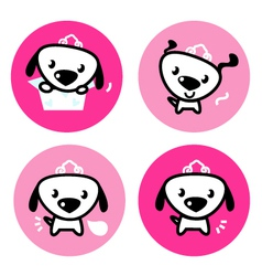 cute female dog vector image vector image