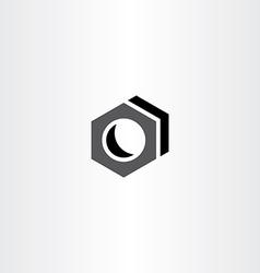 screw nut icon logo sign vector image