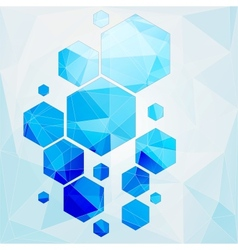 technology polygonal cell abstract background vector image