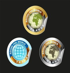 Travel Round The World Set vector image vector image