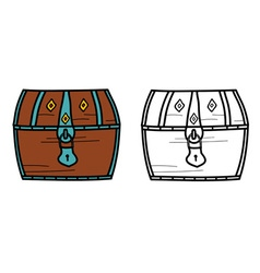 a treasure closed chest vector image