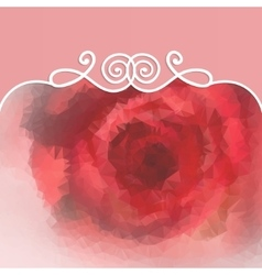 beautiful background with rose and pattern vector image