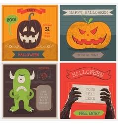 Halloween Cards set vector image vector image