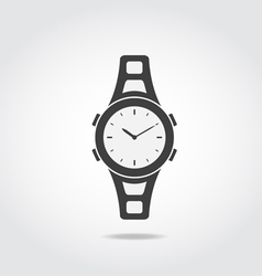 Watch Black Icon vector image vector image