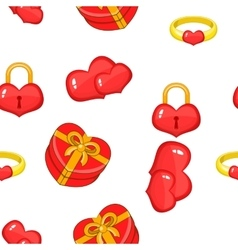 14 february pattern cartoon style vector