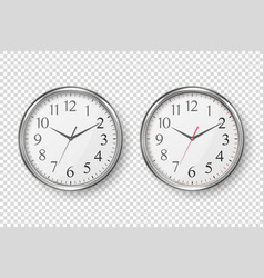 3d realistic simple round silver wall vector image