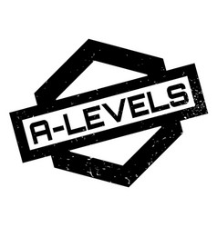 A-levels rubber stamp vector