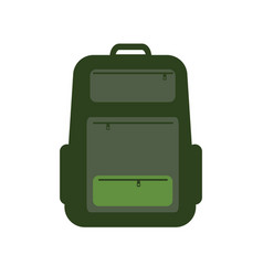backpack isolated on white background solid and vector image