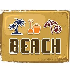 Beach background vector