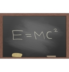 Blackboard in wooden frame vector