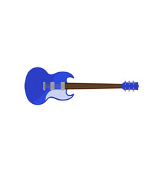 blue electric guitar rock music instrument vector image