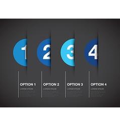 Blue option background vector