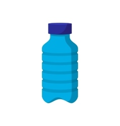 Blue plastic bottle cartoon icon vector image