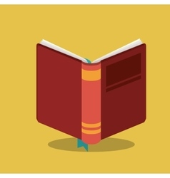 book read library design vector image
