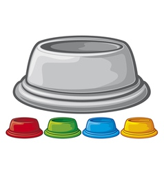Bowl for animals vector