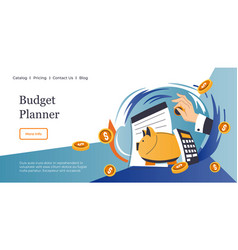 Budget planner for future saving money investing vector