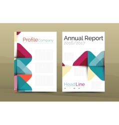 Business company profile brochure template vector