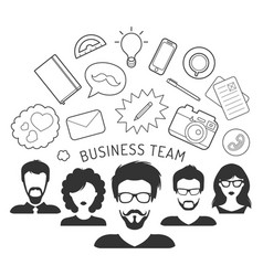 business team management vector image