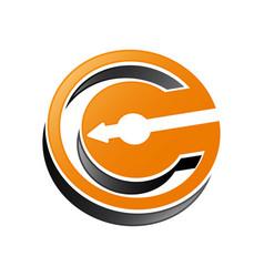 c letter c monogram abstract letter like vector image