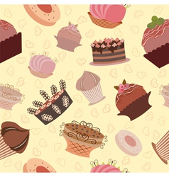 Cake pattern vector