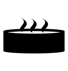 Candle with three wicks icon simple style vector