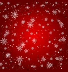 christmas snowflake with night star light and snow vector image