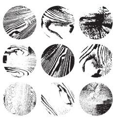 Circular wooden background vector