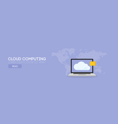 Cloud computing banner concept vector