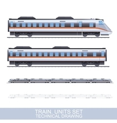 Color Train vector image