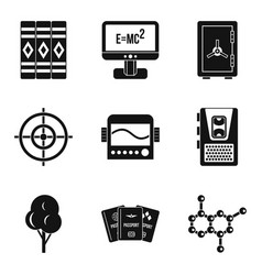 Computer training icons set simple style vector