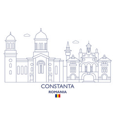 constanta city skyline vector image