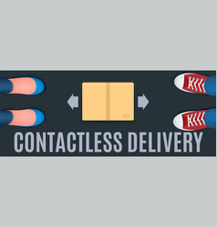 Contactless delivery banner vector