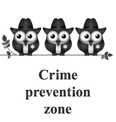 Crime Prevention Zone vector