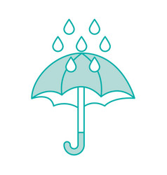 Cute umbrella with rain drops vector