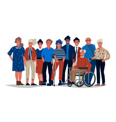 Diverse society people group different vector
