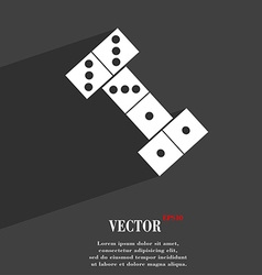 domino symbol Flat modern web design with long vector image