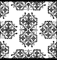 Ethnic style ornament seamless pattern abstract vector