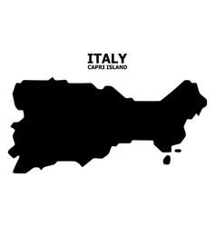 Flat map capri island with caption vector