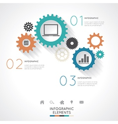 Gear Infographics vector image