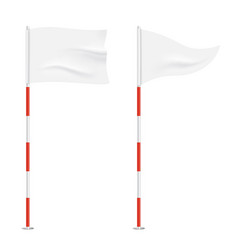 golf flags isolated on background vector image