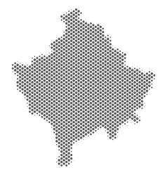 Halftone grey kosovo map vector