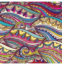 Hand-drawn pattern arabic style background vector