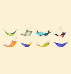 hanging hammock set hanging modern hammocks vector image