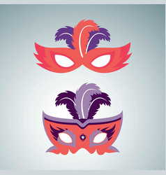 happy brazilian carnival day set of 2 orange vector image