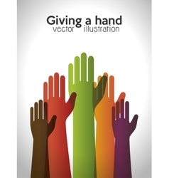 helping hands concept icon vector image