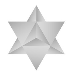 icon with kabbalah symbol merkaba vector image