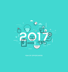 Infographic concept 2017 year of opportunities vector