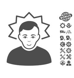 Inventor Icon With Tools Bonus vector